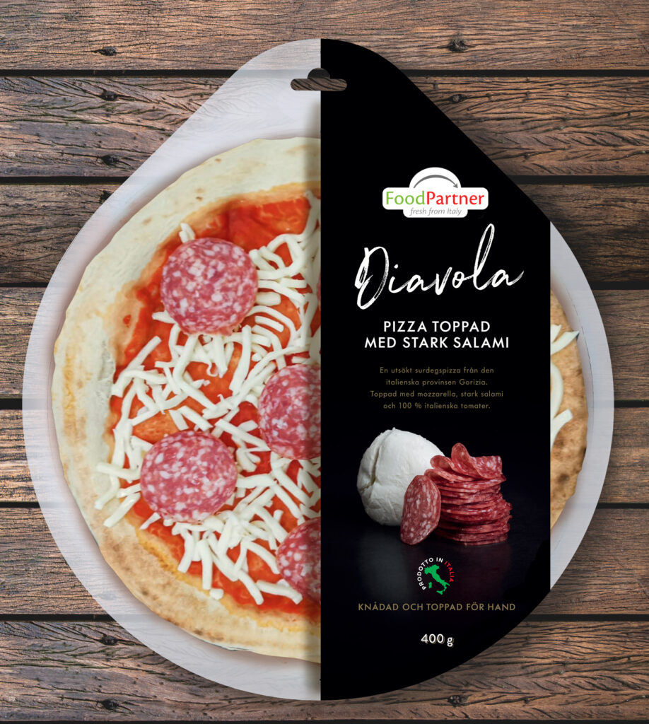 Hand crafted pizzas – 30 days storage, fridge to the oven